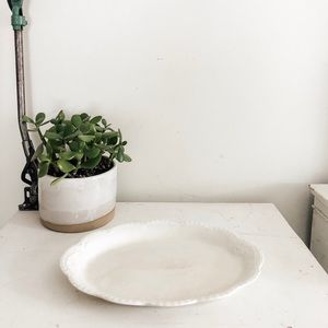 Dining - Vintage scalloped dish